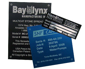 Engraved Aluminum Equipment Tags
